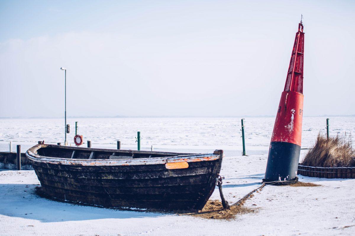 Sylt im Winter: Am Hafen von Munkmarsch