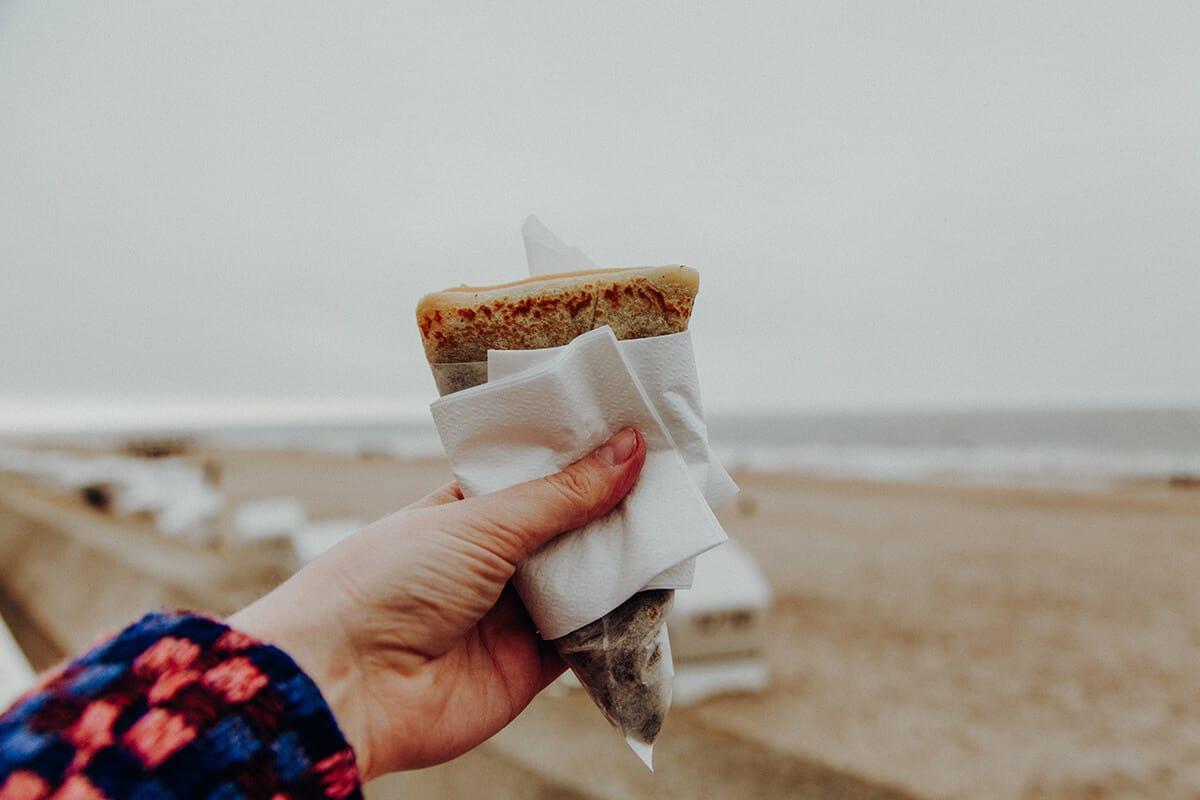 Crêperie am Meer Westerland Nutella Meerblick Strand