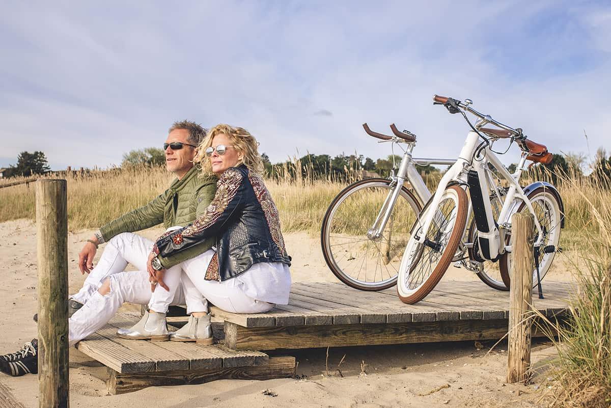 Uli und Susanne von der Ebike Sturmflotte in Westerland