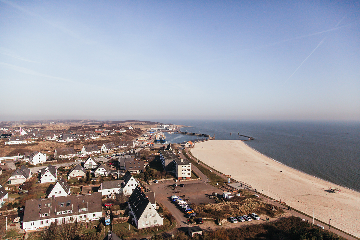 Aussicht Leuchtturm Hörnum Strand Hafen