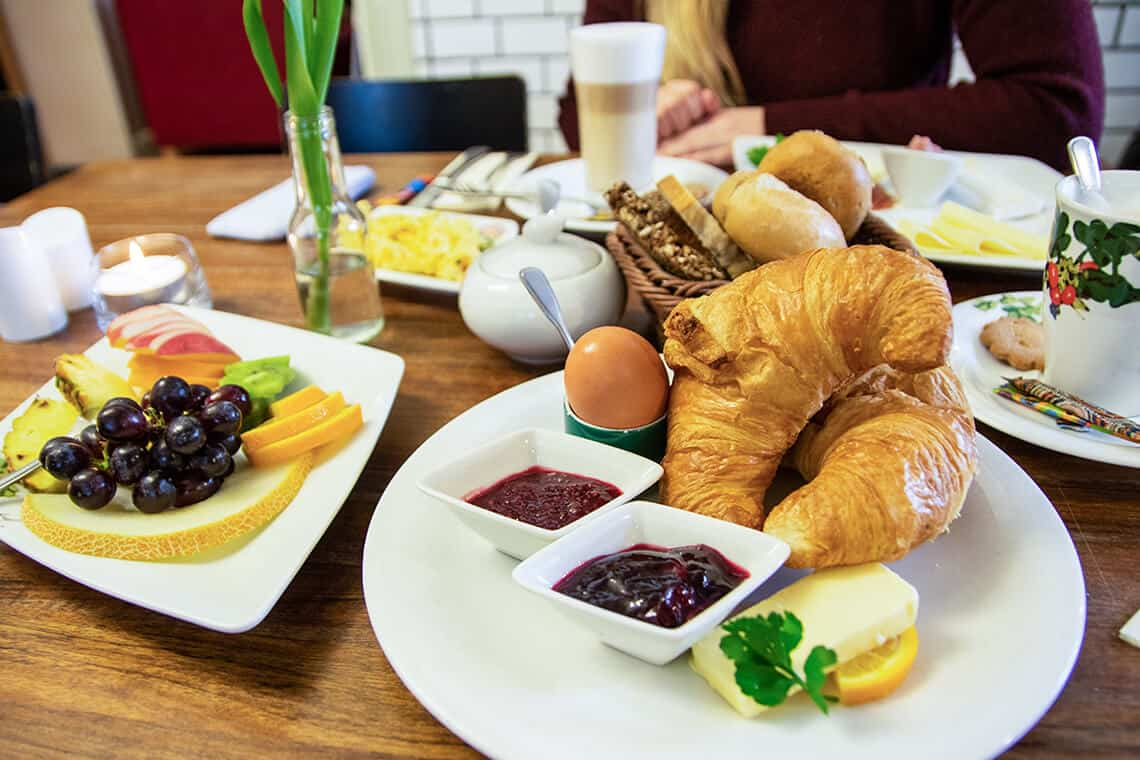 Frühstück im Café Ingwersen in Morsum