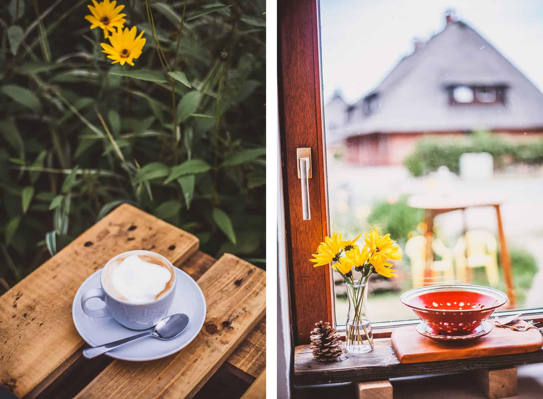 Neu auf Sylt: Kaffeekurve in Braderup, Cappuccino