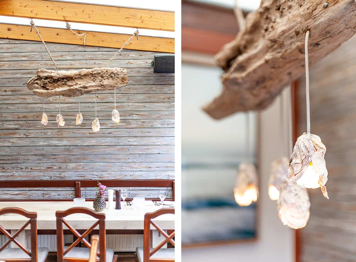 Strandrestaurant Samoa Seepferdchen Lampe Strandgut