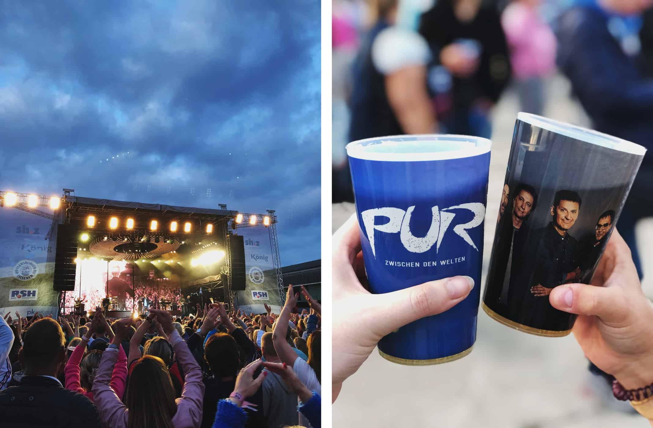 Open-Air Konzert mit PUR auf Sylt