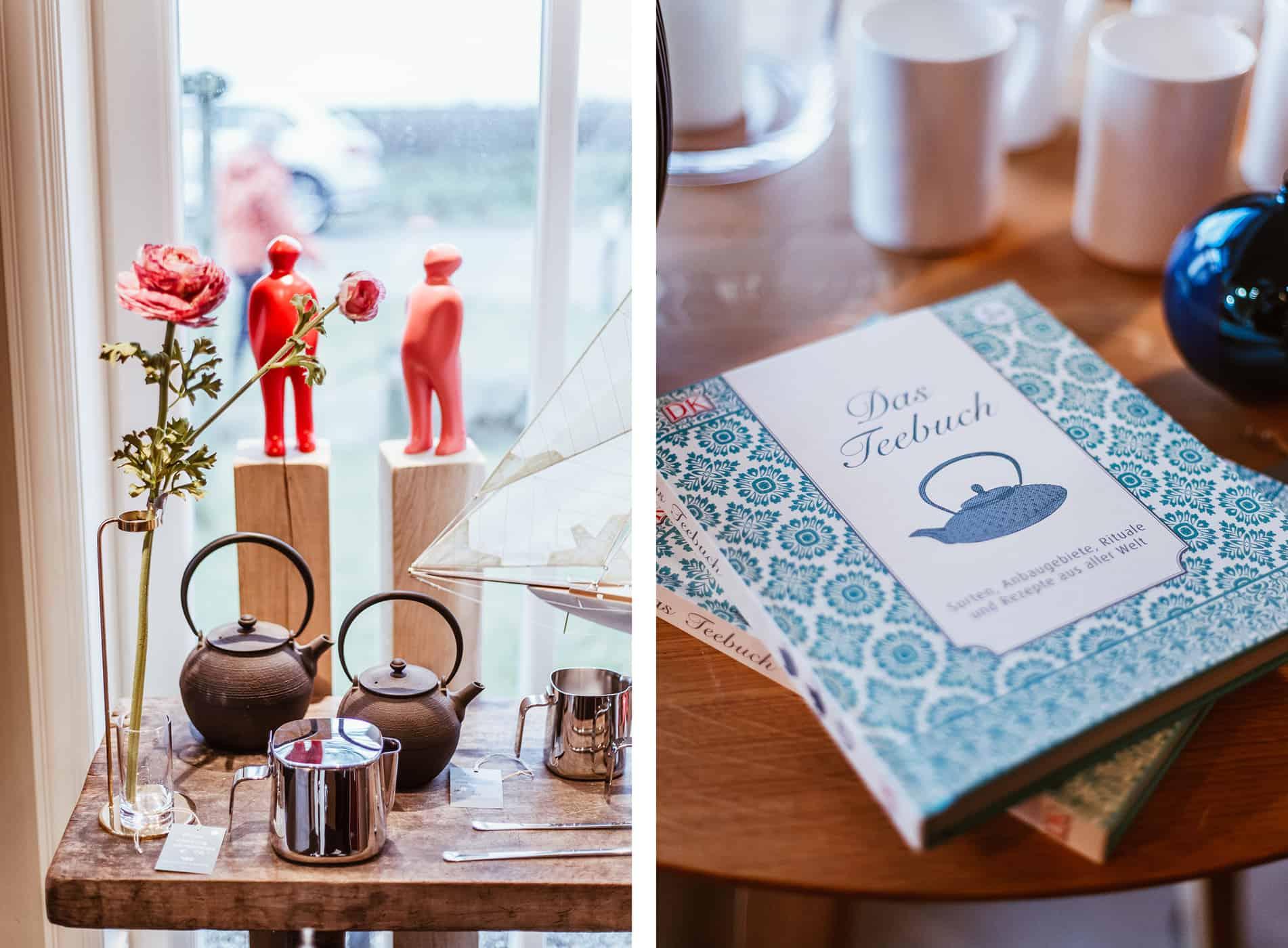 Teekontor Keitum Ladengeschäft Teekannen Bücher