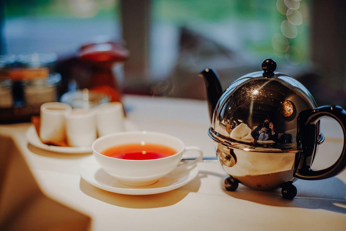 Teeraum Kontorhaus Keitum Rote Grütze Tee