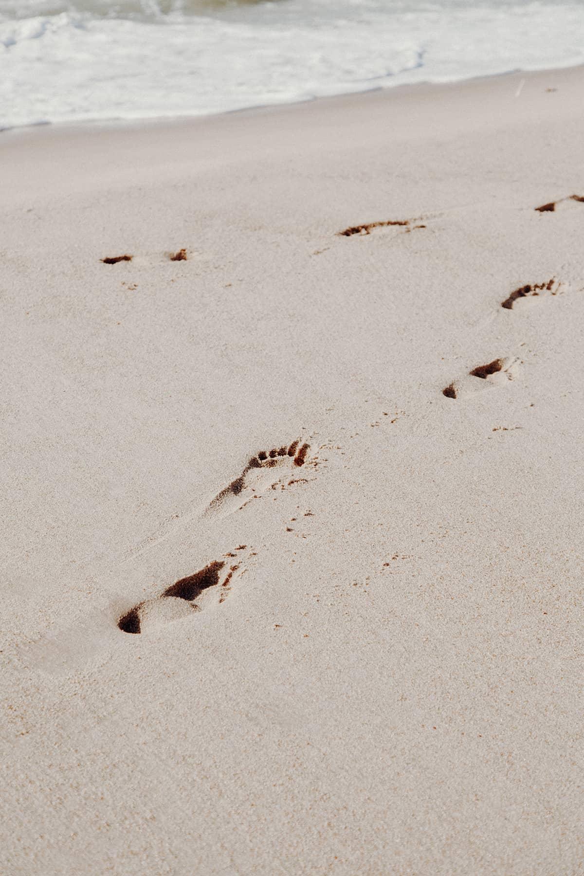 Fußspuren im Sand Sylt Kampen Strand