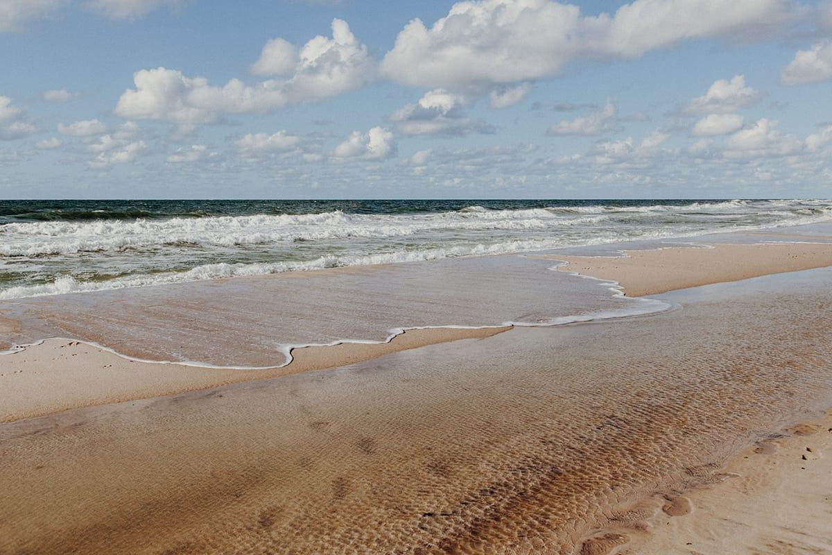 Kampen Sylt Strand Nordsee September