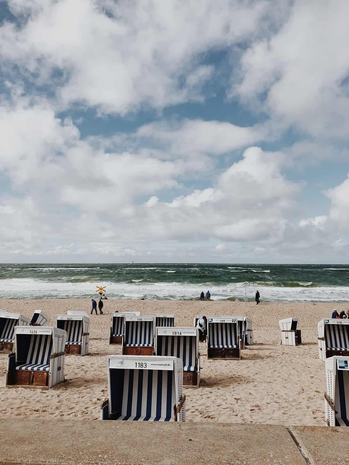 Strand Westerland Sylt September