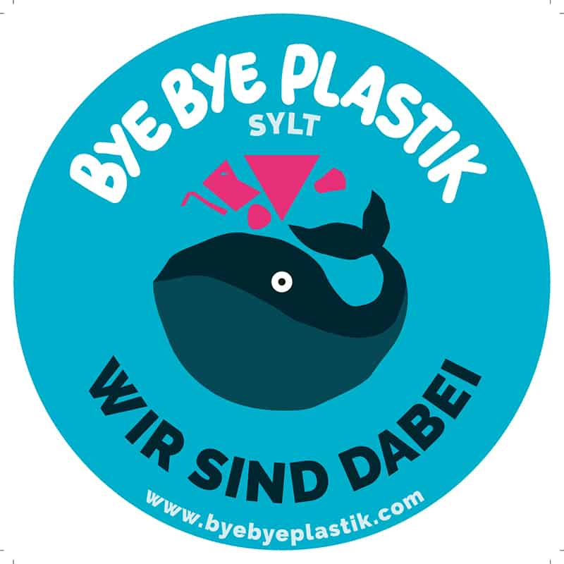 Bye Bye Plastik Sylt: Smiley Aufkleber Sticker