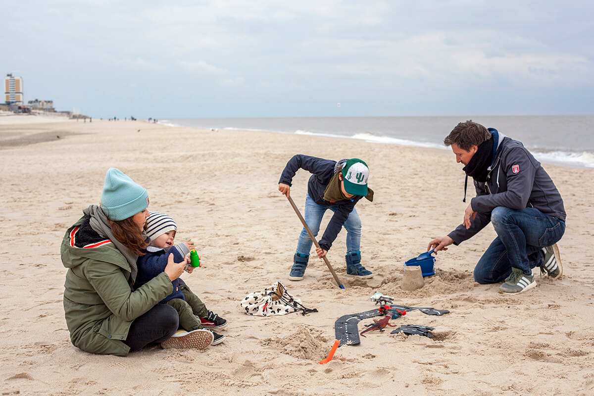 Sylt mit Kindern: Familie Langenberg am Strand von Westerland