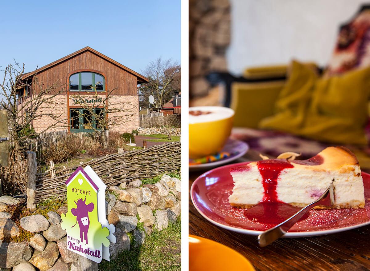Cafés auf Sylt: Hofcafé Klein'er Kuhstall in Tinnum, Käsekuchen