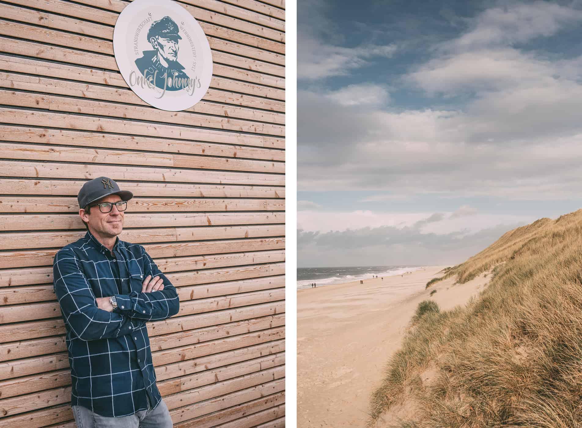 Collage Andreas Behrens und Aussicht